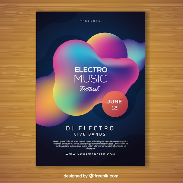 Abstract colorful music festival flyer template vector free download abstract colorful music festival flyer template free vector saigontimesfo