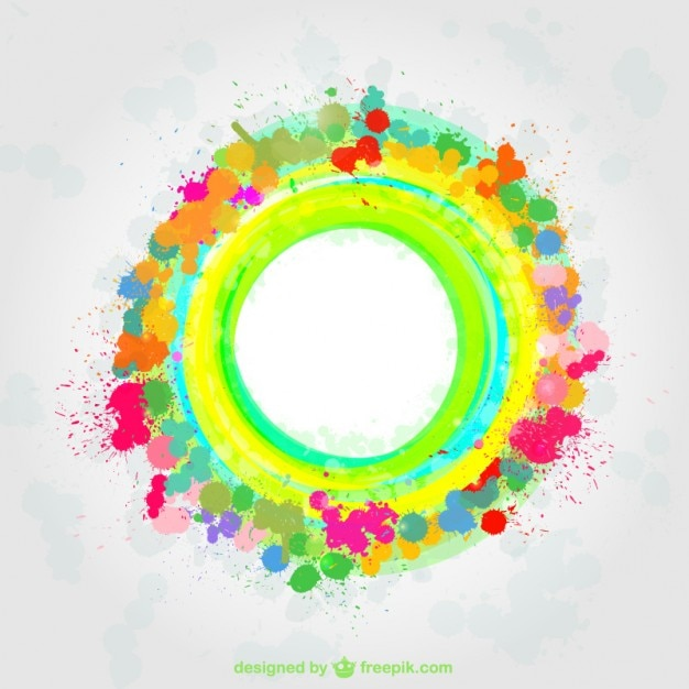 Color Splatter Background Colorful Paint Splatter