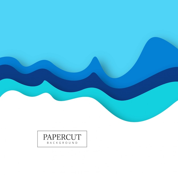 Abstract colorful papercut creative wave design\ vector