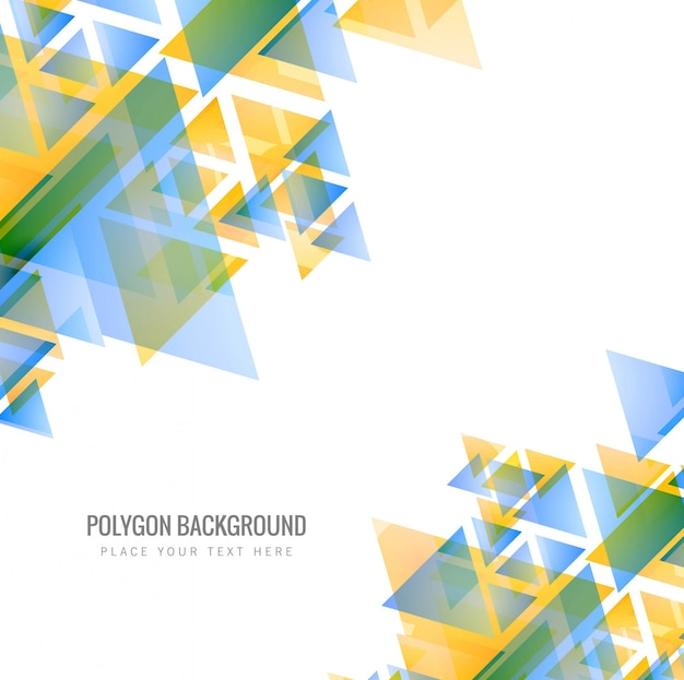 Abstract colorful polygon background illustration Vector ...