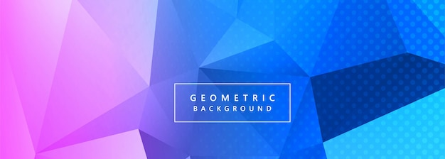 Abstract colorful polygon banner background vector Free Vector