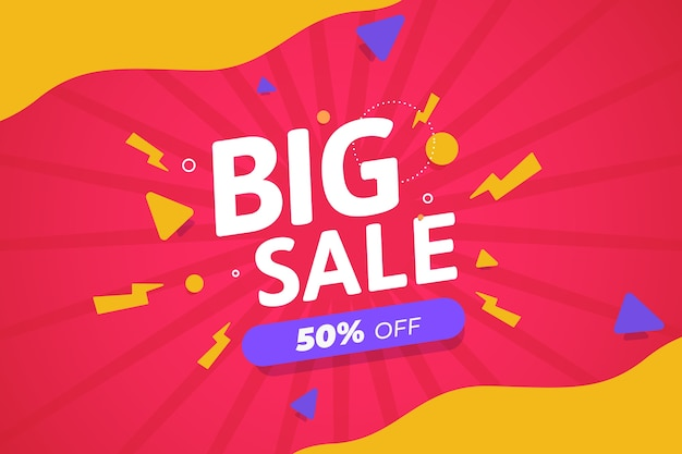 Abstract colorful promotional sales wallpaper design Free Vector