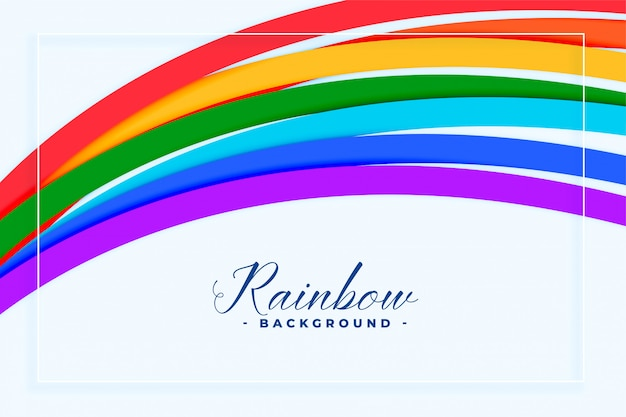 Abstract Colorful Rainbow Lines Background Vector Free