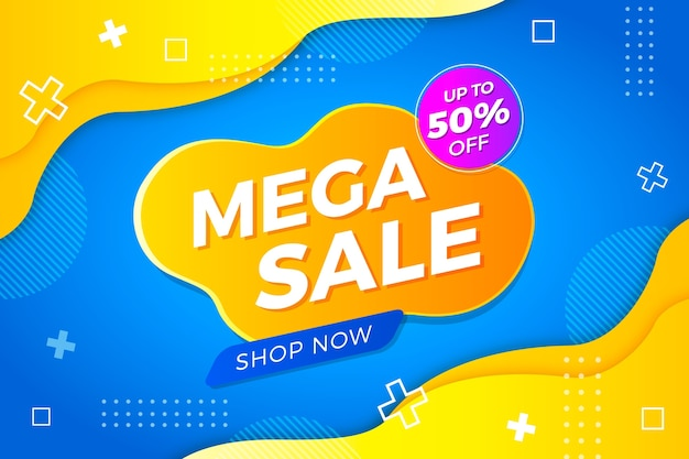 Abstract colorful sale background concept Free Vector