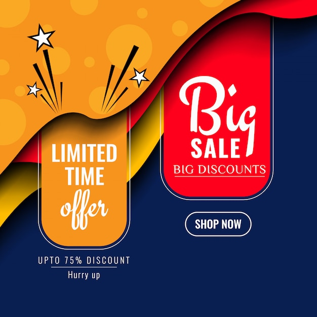 Abstract colorful sale background Free Vector