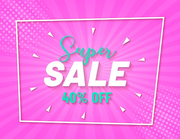 Abstract colorful sale banner Free Vector