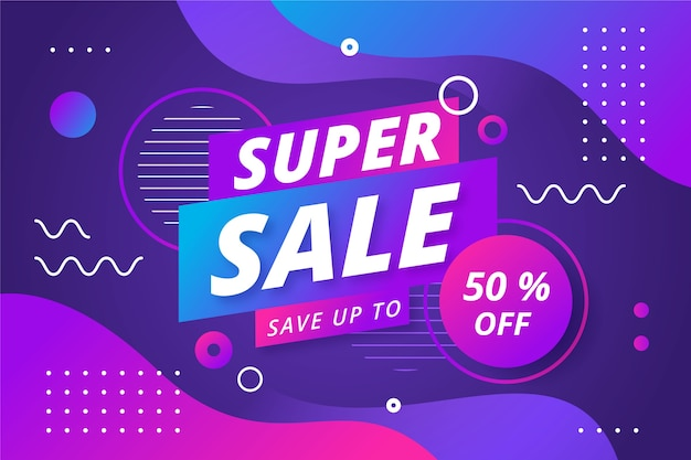 Abstract colorful sales 80s background Free Vector