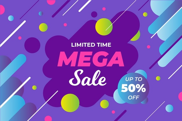 Abstract colorful sales background Free Vector