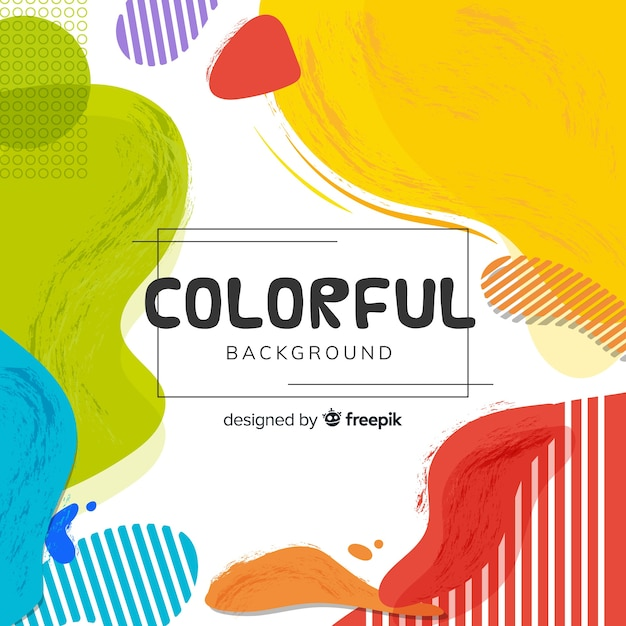 Abstract colorful shaped background Free Vector