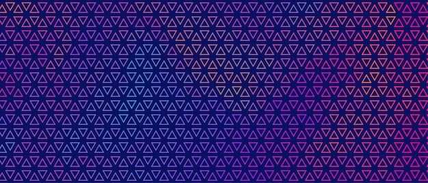 Abstract colorful small triangle pattern banner design Free Vector