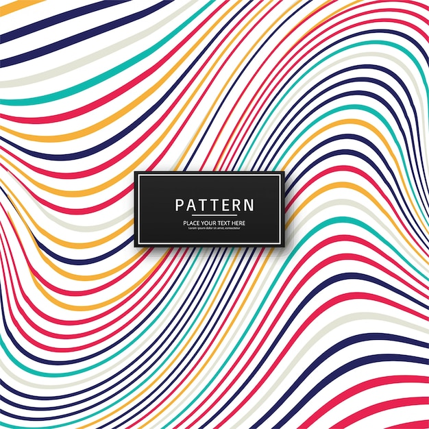 Abstract colorful stylish lines background Free Vector