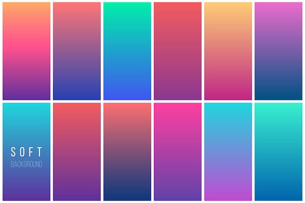 Abstract colorful vector background collection