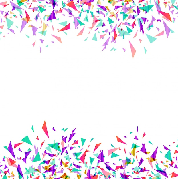 Abstract colorful vector confetti isolated Free Vector