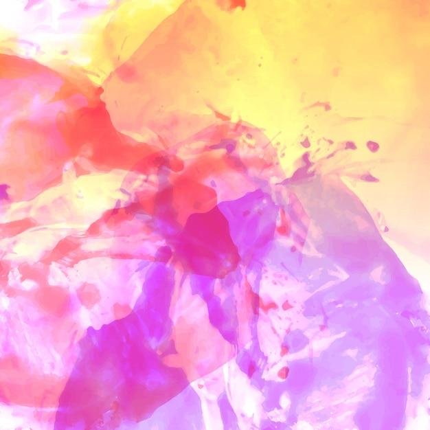 抽象的なカラフルな水彩の背景 無料ベクター