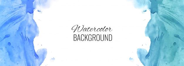 抽象的なカラフルな水彩バナーの背景 無料ベクター