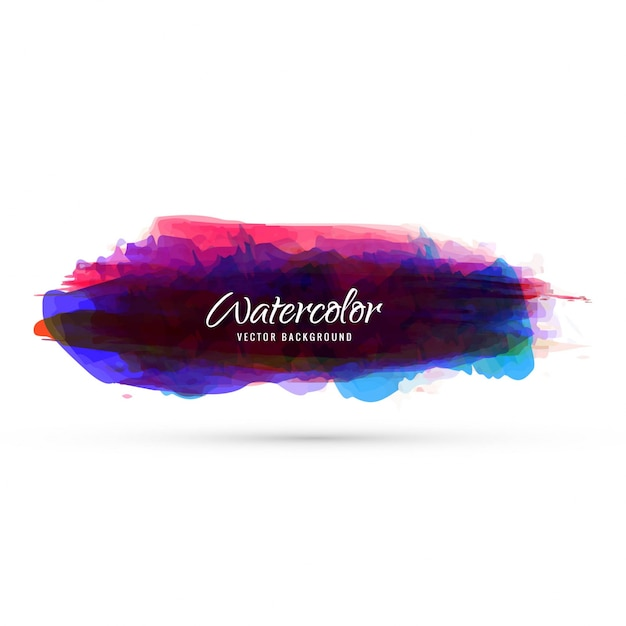 Abstract colorful watercolor design