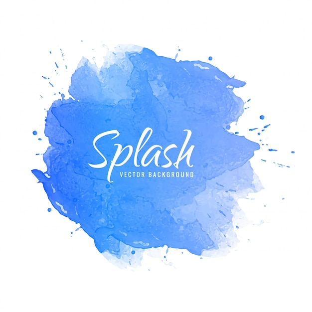 Abstract colorful watercolor ink splash design Free Vector