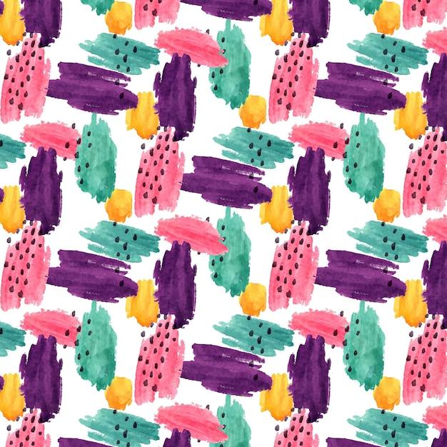 추상 다채로운 수채화 패턴 무료 벡터