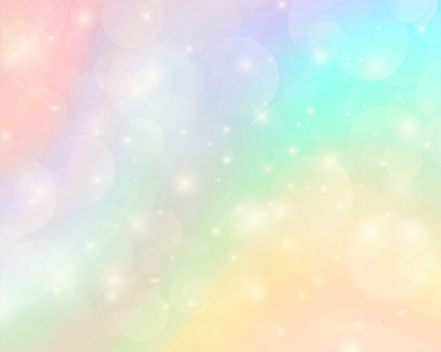 Abstract colorful watercolor rainbow background Premium Vector