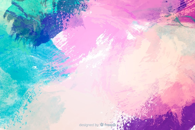 Abstract colorful watercolor stain background Free Vector