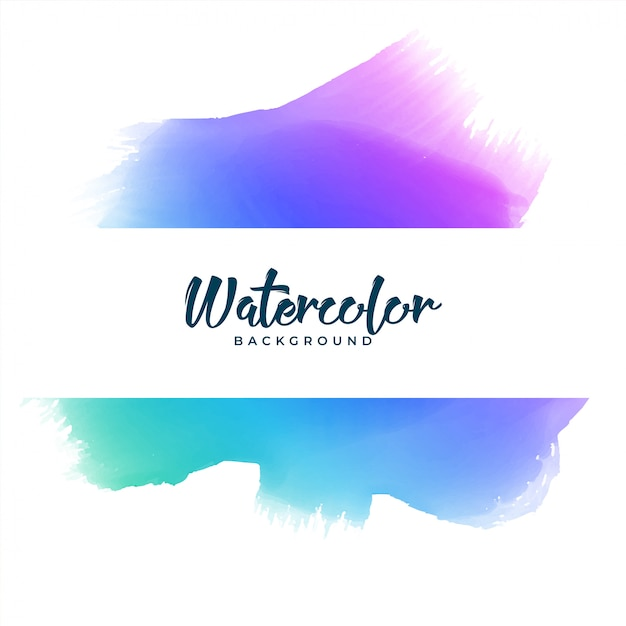 Abstract colorful watercolor stain banner Free Vector
