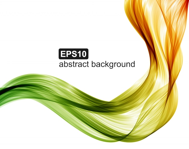 Abstract colorful wave background. vector illustration. Premium Vector