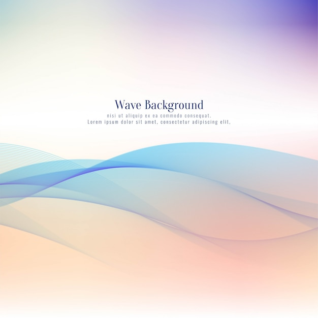 Abstract colorful wave background Free Vector