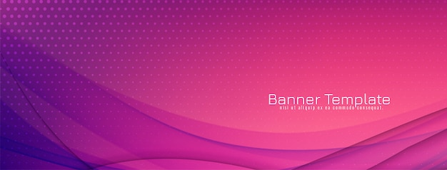 Abstract colorful wave banner elegant design Free Vector
