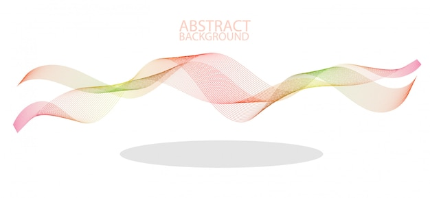 Abstract colorful wave lines flowing isolated on black background Premium Vector