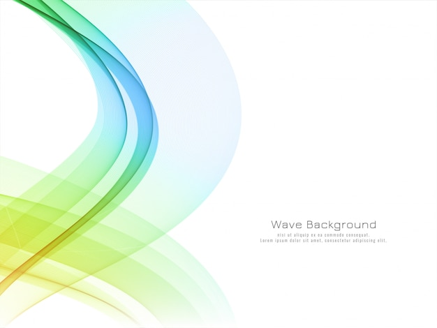 Abstract colorful wave modern background Free Vector