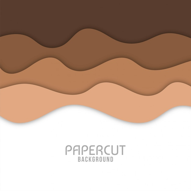 Abstract colorful wavy paper cut background Premium Vector