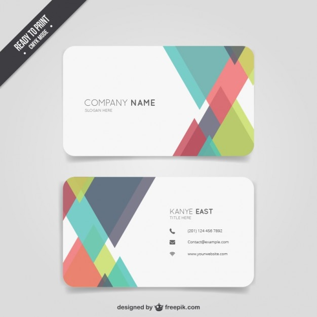 Abstract colour business card vector free download abstract colour business card free vector reheart Gallery