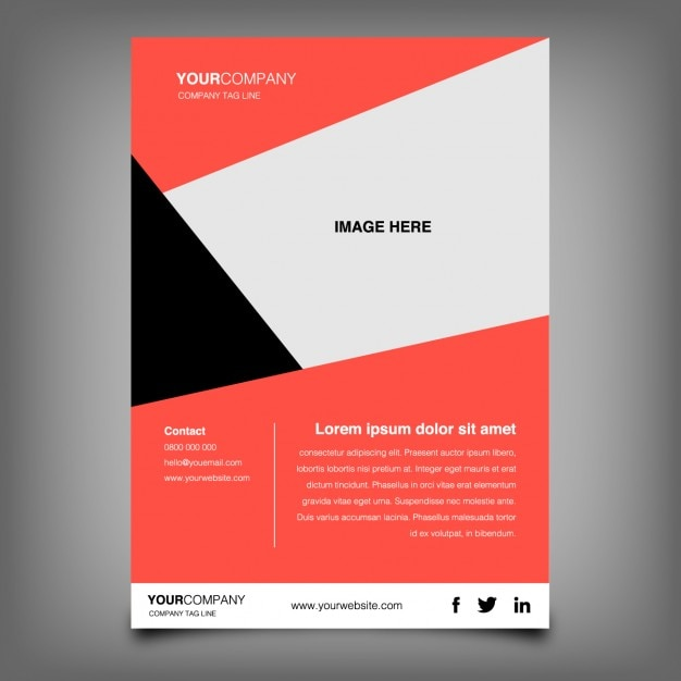 Abstract coloured brochure Free Vector