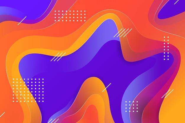 Абстрактный красочный фон и эффект мемфиса Бесплатные векторы