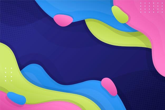 Sfondo colorato astratto con strati Vettore gratuito