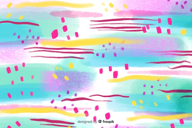 Abstract colourful brush strokes background Free Vector