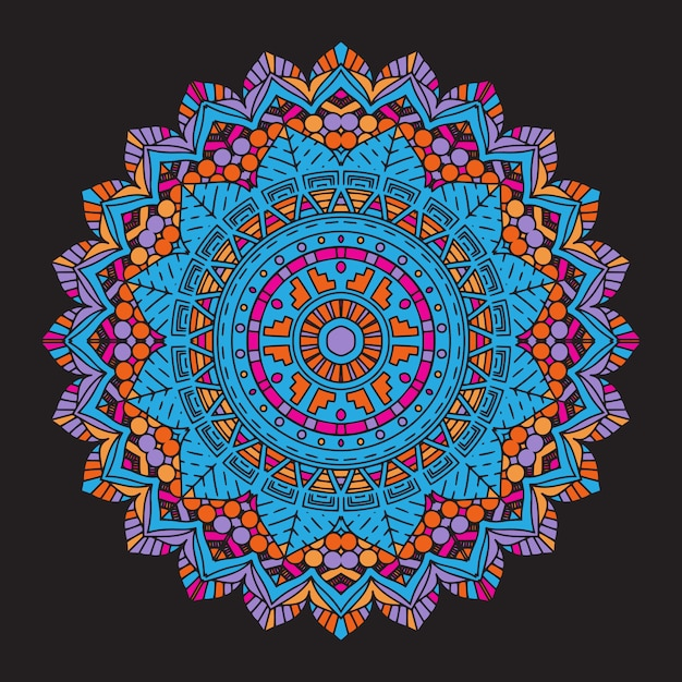 Abstract colourful mandala background Free Vector