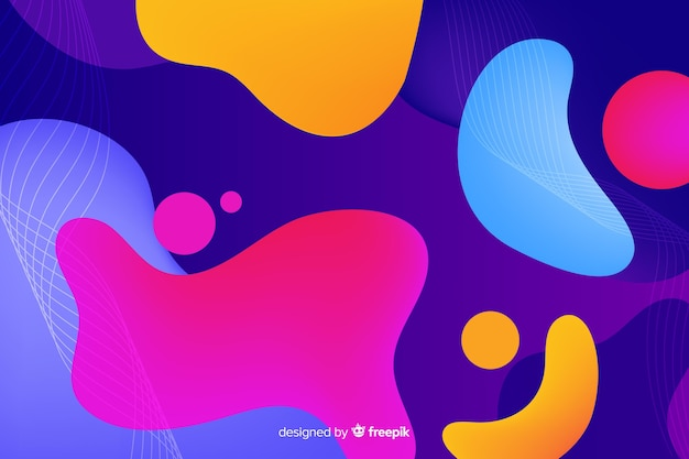 Abstract colourful shapes background Free Vector