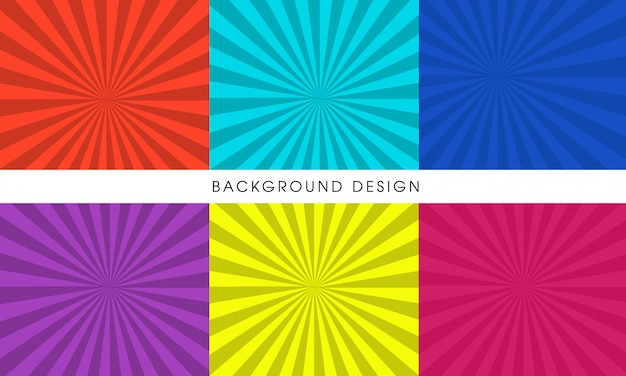 Abstract comic background templates Premium Vector