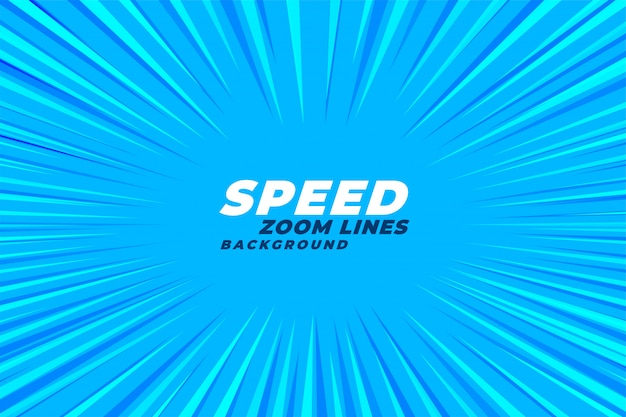 Abstract comic zoom speed lines background Free Vector