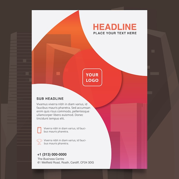 Abstract company brochure design Free Vector