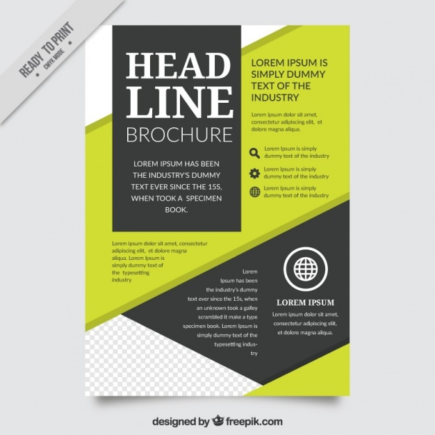 Abstract company brochure template vector free download for Company brochure template free