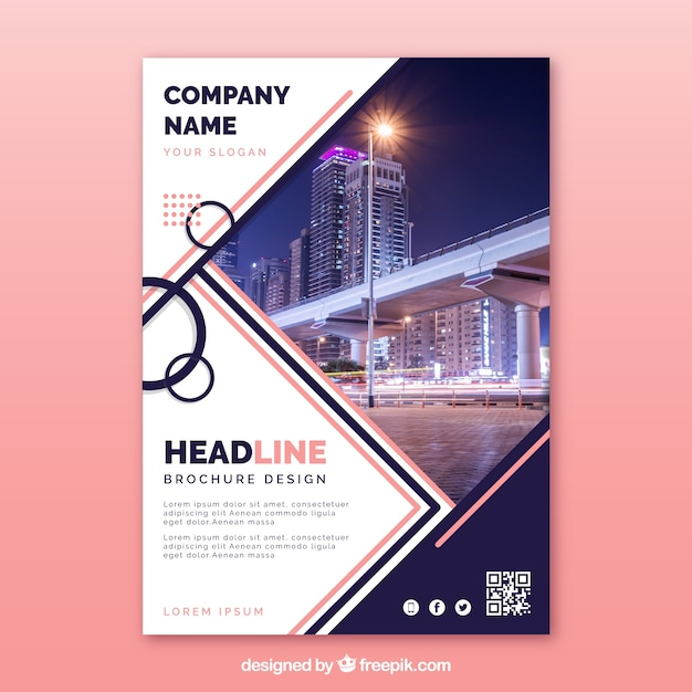 Abstract company brochure template