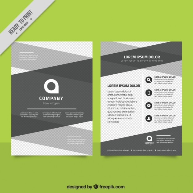 Abstract company brochure Free Vector