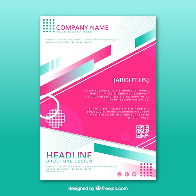 Abstract company brochure