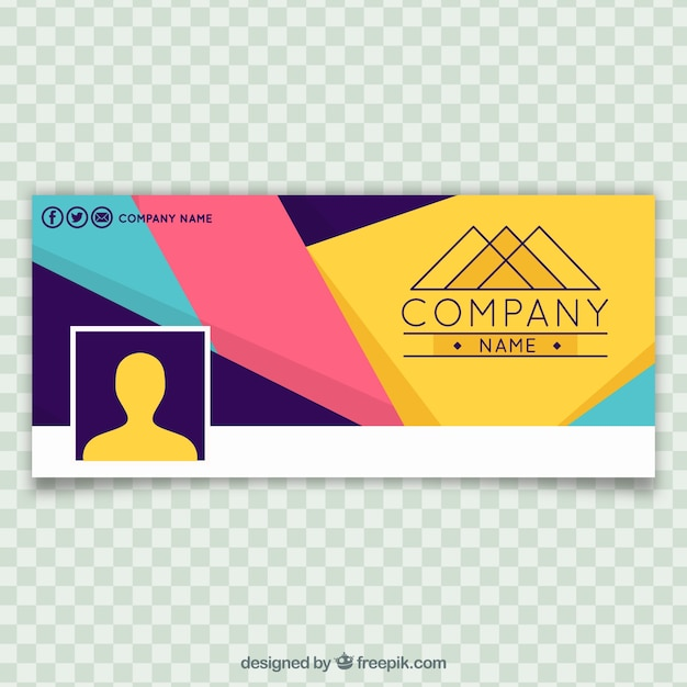 Abstract company colored facebook cover