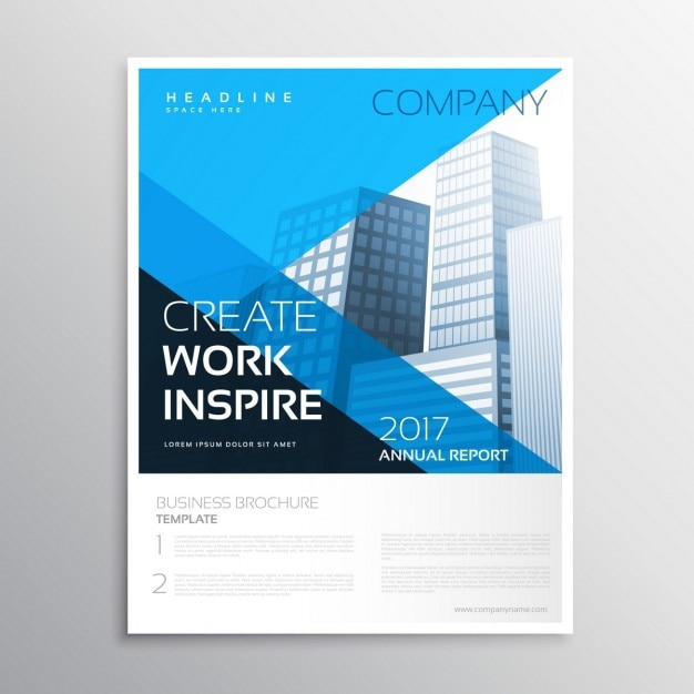 Abstract company magazine cover