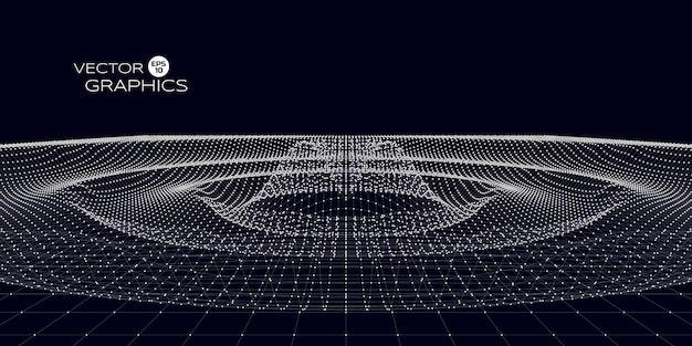 Abstract concept design of space ripple. vector illustration for science, technological design. Premium Vector