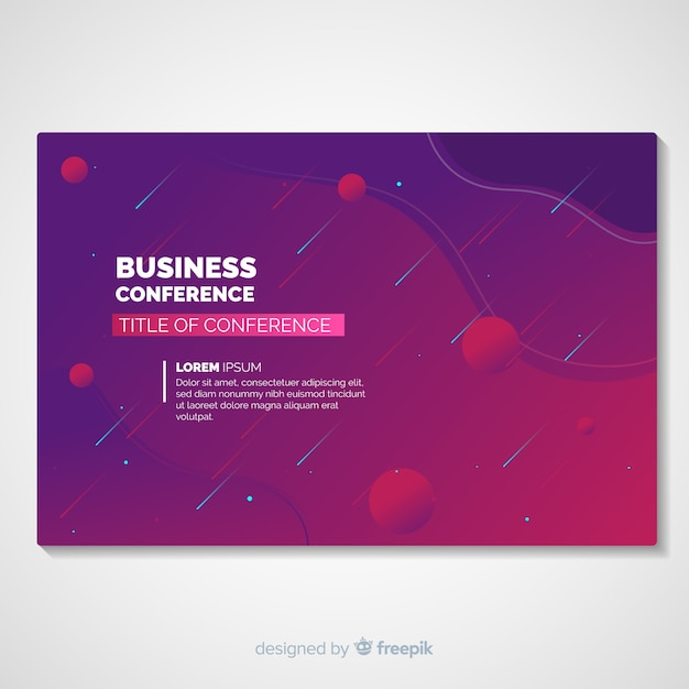 Abstract conference landing page template Free Vector