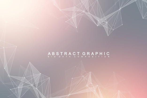 Abstract connection illustration Premium Vector